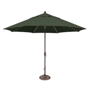 Lanai Pro Forest Green Octagon Auto Tilt Market Umbrella