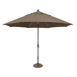 Lanai Pro Taupe Octagon Auto Tilt Market Umbrella
