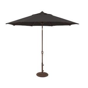 Aruba Black Octagon Auto Tilt Market Umbrella