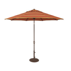 Aruba Astoria Sunset Stripe Market Umbrella