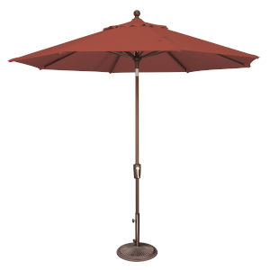 Catalina Henna and Bronze 108-Inch Push Button Market Umbrella