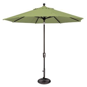 Catalina Ginkgo and Black Push Button Market Umbrella