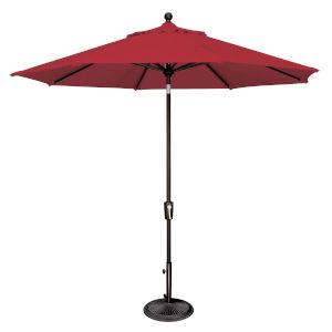Catalina Jockey Red and Black Push Button Market Umbrella