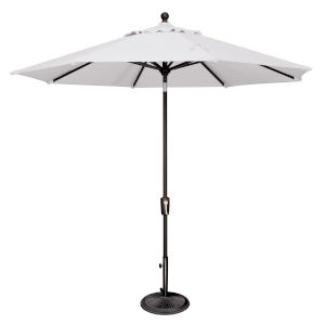 Catalina Natural and Black 108-Inch Push Button Market Umbrella