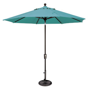 Catalina Aruba and Black Push Button Market Umbrella