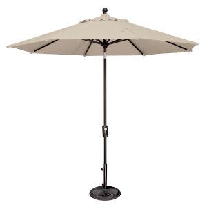 Catalina Antique Beige and Black 108-Inch Push Button Market Umbrella