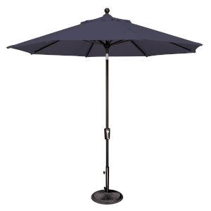 Catalina Navy and Black 108-Inch Push Button Market Umbrella