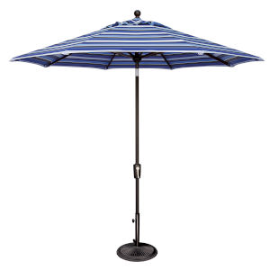 Catalina Milano Cobalt Stripe and Black Push Button Market Umbrella