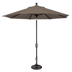 Catalina Taupe and Black 108-Inch Push Button Market Umbrella
