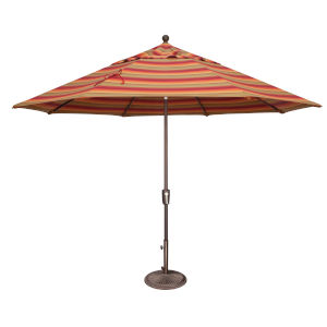 Catalina Astoria Sunset Stripe and Bronze Push Button Market Umbrella