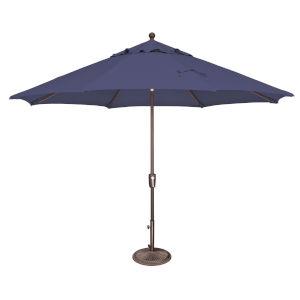 Catalina Blue Sky Octagon Push Button Tilt Market Umbrella