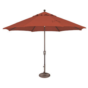 Catalina Tangerine 11-Feet Octagon Push Button Tilt Umbrella