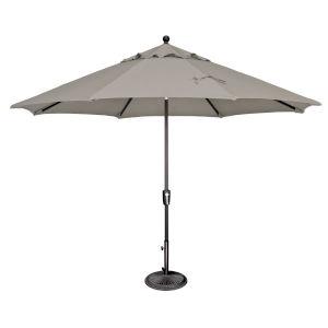 Catalina Cast Silver and Black 132-Inch Push Button Market Umbrella
