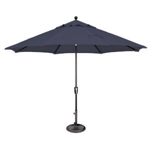 Catalina Navy and Black 132-Inch Push Button Market Umbrella