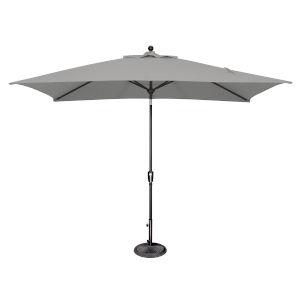 Catalina Cast Silver and Black Push Button Market Umbrella