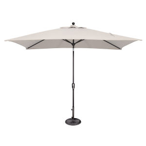 Catalina Natural and Black Push Button Market Umbrella