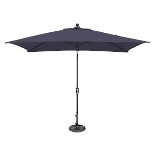 Catalina Navy and Black Push Button Market Umbrella