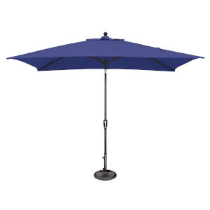 Catalina Sky Blue and Black Push Button Market Umbrella