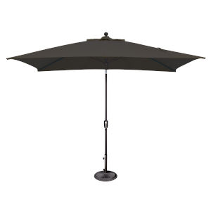 Catalina Black 120-Inch Push Button Market Umbrella
