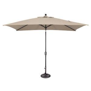 Catalina Beige and Black Push Button Market Umbrella