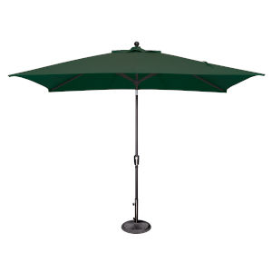 Catalina Forrest Green and Black Push Button Market Umbrella