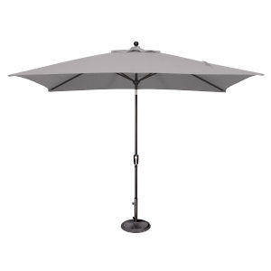 Catalina Gray Tweed and Black Push Button Market Umbrella