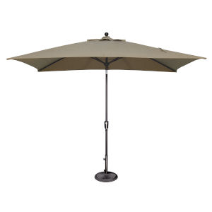 Catalina Taupe and Black Push Button Market Umbrella