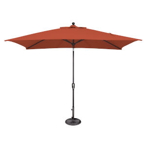 Catalina Tangerine and Black Push Button Market Umbrella