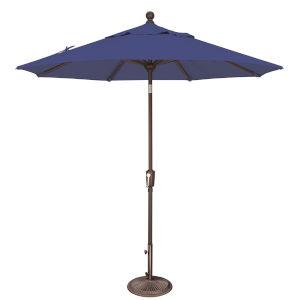 Catalina Blue Sky 90-Inch Octagon Push Button Tilt Market Umbrella