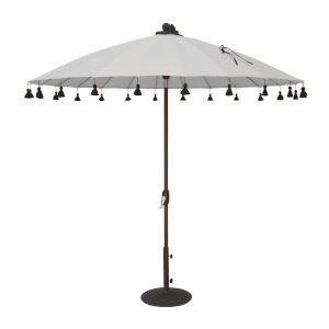 Isabela White 8.5-Feet Round Auto Tilt Umbrella