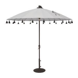 Isabela White 8.5-Feet Round Auto Tilt Umbrella
