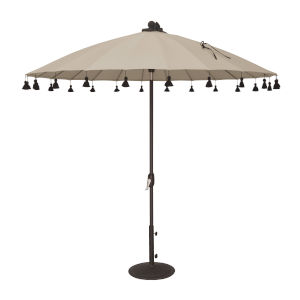 Isabela Antique Beige 8.5-Feet Round Auto Tilt Umbrella