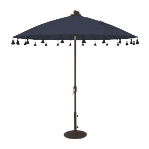 Isabela Navy 8.5-Feet Round Auto Tilt Umbrella