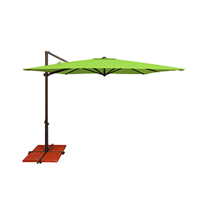 Skye Sunbrella 8 Feet and 6 Inch Gingko Square Umbrella and Cross Base Stand