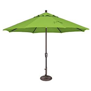 Catalina 11 Foot Sunbrella Gingko Octagon Push Button Tilt