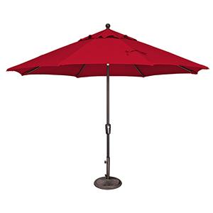 Catalina 11 Foot Sunbrella Jockey Red Octagon Push Button Tilt