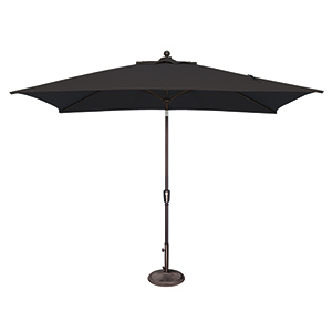 Catalina 6x10 Foot Rectangular Sunbrella Black Octagon Push Button Tilt