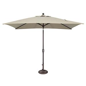 Catalina 6x10 Foot Rectangular Sunbrella Antique Beige Octagon Push Button Tilt