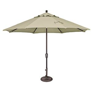 Catalina 11 Foot Sunbrella Antique Beige Octagon Push Button Tilt