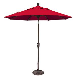 Catalina 7.5 Foot Sunbrella Jockey Red Octagon Push Button Tilt