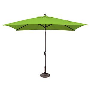 Catalina 6x10 Foot Sunbrella Rectangular Gingko Octagon Push Button Tilt