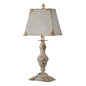 Lynn Antique White One-Light 21-Inch Table Lamp