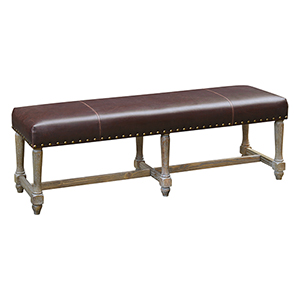 Weston Washed Walnut 60-Inch Bench