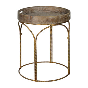 Scout White Wash with Distressed Gold Accent Table