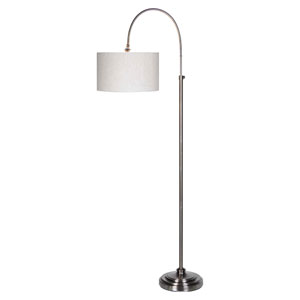Porter Pewter Plated One-Light Floor Lamp