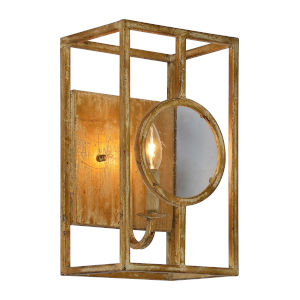 Finley Goldleaf Distressed One-Light Wall Sconce