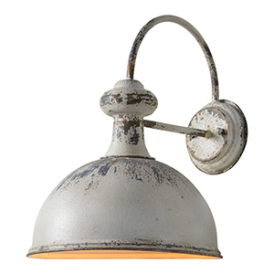 Rich Distressed White Plug-In Sconce