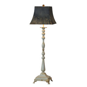 Weathered Gray and Black 42-Inch One-Light Table Lamp