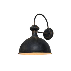 Antique Black 14-Inch One-Light Plug-in Wall Sconce