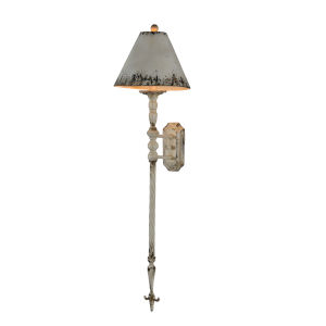 Antique Cream 12-Inch One-Light Plug-In Wall Sconce